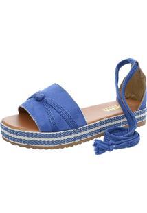 Sandalia Mariha Calçados Chic Verão Azul