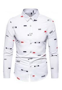 Camisa Masculina Social Slim California - Branca