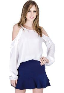 Blusa Ciganinha Colcci - Feminino-Off White