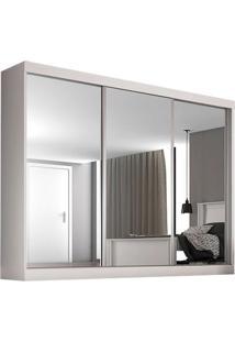 Guarda-Roupa Nápoli - 3 Portas - Com Espelho - Branco