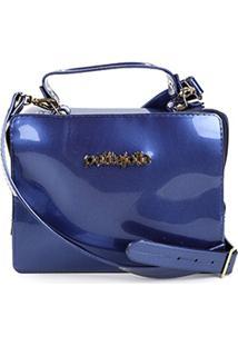 Bolsa Petite Jolie Mini Bag Box Feminina - Feminino-Marinho