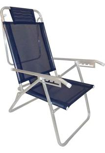 Cadeira Reclinavel Zaka Aluminio 5 Posições Infinita Azul
