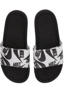 Chinelo Nike Benassi Jdi Print - Slide - Feminino - Preto/Preto