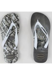 Chinelo Havaianas Masculina Game Of Thrones Chumbo