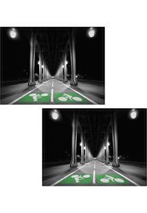 Jogo Americano Colours Creative Photo Decor - Ciclovia Em Paris Na França - 2 Peças