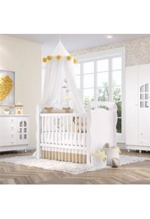 Quarto Beb㪠Branco Berã§O/Cã´Moda/Guarda-Roupa Grã£O De Gente Branco - Branco - Dafiti
