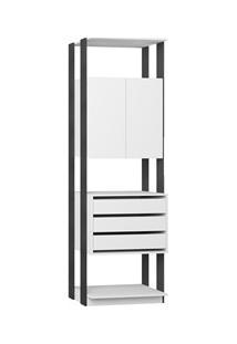 Guarda Roupa Closet Clothes 1006 2 Portas Branco/Espresso - Be Mobiliá