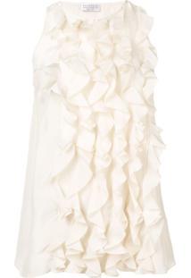 Brunello Cucinelli Blusa Com Babado - Branco