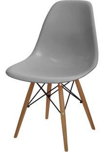 Cadeira Eames Polipropileno Cinza Base Madeira - 24130 Sun House