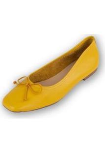 Sapatilha Camilla Couro - Feminino-Amarelo