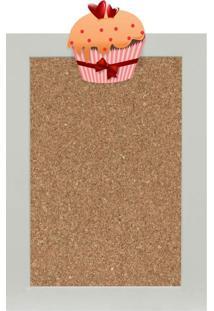 Quadro De Aviso Cortiça Cupcake I 25X35Cm Colorido Kapos