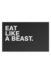 Jogo Americano (Kit 4 Unidades) Nerderia E Lojaria Eat Like A Beast Colorido