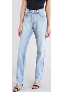 bf29d2357 CEA. Calça Jeans Feminina Mindset Reta Cintura Alta Jeans Médio