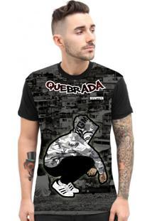Camiseta Hunter Pose De Quebrada Preta