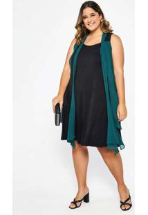 Vestido Almaria Plus Size Garage Curto Detalhe Chi