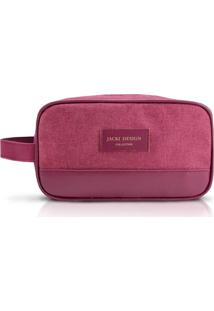 Necessaire Com Alça Lateral Jacki Design Be You Vinho