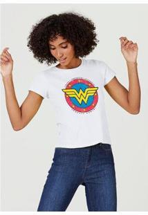Blusa Hering Manga Curta Estampa Mulher Maravilha Feminina - Feminino