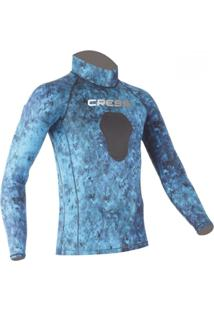 Camiseta Cressi De Lycra Blue Hunter Multicolorido