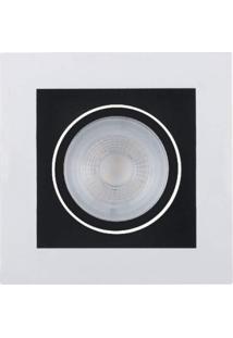 Spot Led Embutir De Plástico Poli 5,3Cmx10,2Cmx10,2Cm Bella Iluminação 1X5W - Caixa Com 5 Unidade - Branco E Preto
