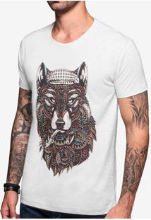 Camiseta Ethnic Wolf Mescla Claro 103394