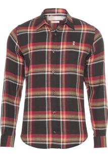 Camisa Masculina Xadrez Madras Açaf - Vermelho
