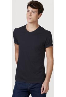Camiseta Básica Masculina Com Decote V