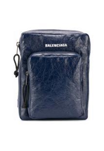 Balenciaga Bolsa Carteiro Explorer - Azul