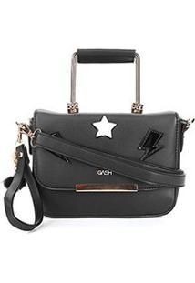Bolsa Gash Mini Bag Nah Cardoso Feminina - Feminino-Preto