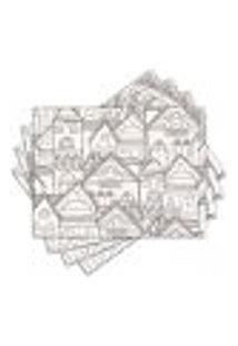 Jogo Americano - Arquitetura Com 4 Peças - 1114Jo