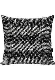Capa Para Almofada Geometric- Preta & Branca- 45X45Cstm Home