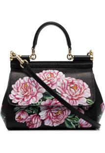 Dolce & Gabbana Bolsa Tote Dauphine Com Estampa Floral - Preto
