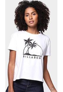 Camiseta Billabong Come At Me Feminina - Feminino-Branco