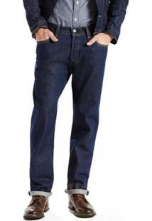 Calça Jeans 501 Original Big & Tall (Plus) - Masculino-Azul Escuro