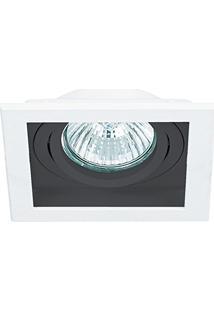 Spot Embutir Ar111 Ns7111P Quadrado Branco/Preto Modular Bella