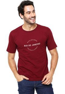 Camiseta Rgx Muito Malandro Bordô