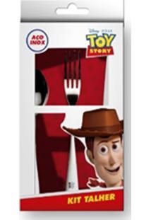 Conjunto De Talheres 3 Pçs Inox Toy Story Gedex