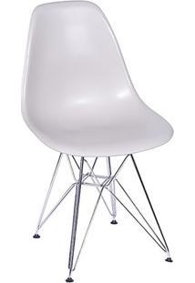 Cadeira Eames Dkr- Fendi & Prateada- 80,5X46X42Cm