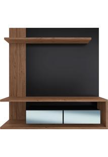 Painel Suspenso Para Tv De 65 Polegadas Com 2 Portas E Espelho Est203-Estilare - Preto