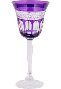 Taça De Cristal Lodz Para Vinho De 170 Ml - Purple