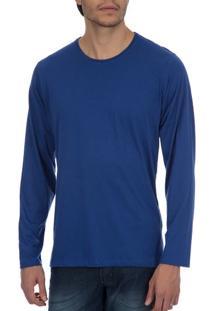 Camiseta Masculina Azul Lisa - M