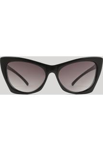 Óculos De Sol Gatinho Feminino Oneself Preto - Único