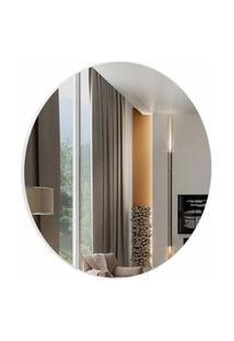 Espelho Redondo Lunes Medio Cor Off White 45 Cm (Diam) - 57968 Sun House