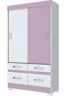 Guarda-Roupa 2 Portas Henn Briz B25-66 Branco Rosa Se