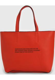 Bolsa Calvin Klein Sculpted Established Laranja