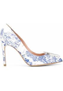 Moschino Sapato M Com Estampa Barroca - Branco