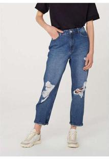 Calça Jeans Feminina Mom Cintura Super Alta Destro