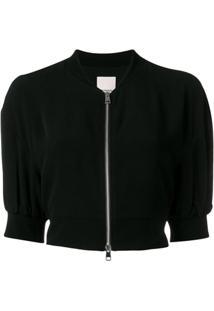 Pinko Zipped Up Cropped Jacket - Preto