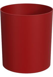 Lixeira- Vermelha- 27X25X25Cm- 5L- Cozacoza