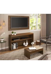 Rack C/Painel Tv Até 50 Pol.Mesa De Apoio Atualle Multimóveis Duna Acetinado Texturizado Ref. 2839