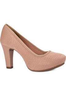 Sapato Tradicional Texturizado- Rosãª- Salto: 9Cmdakota